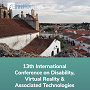 13th International Conference on Disability, Virtual Reality & Associated Technologies Serpa